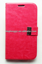newest wallet style and fashionable design mobile phone leather case for sam i9082