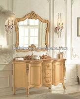 European Vintage Bath Vanity,Antique Hand Carved Vanities Bathroom,Bisini Lastest Vanity Units,Mirrored Vabinet(BF08-4091)