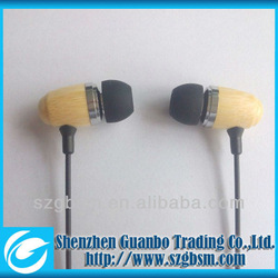 high quality fashion wooden earphone for mp3 made in china