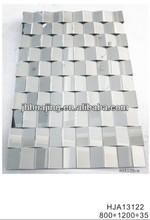 Silver Mirror Glass Decorative 3D Mirror from Huajing