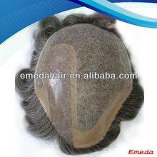 Hot Sell 5A Grade Natural Cheap Virgin Indian Men Hair Toupee Wig