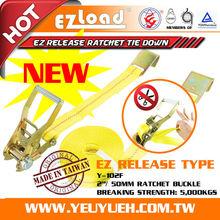 [EZ LOAD]Y-102F EZ Release Type Truck Cargo Lashing Belt