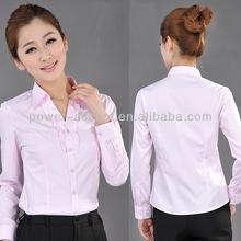 2013 mulher camisa uniforme escritório de projetos para a mulher