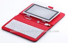 cloth grid 7 inch tablet pc keyboard/case for samsung tab3 7'' case