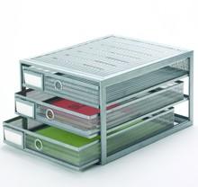 Metal Mesh Desktop File Lengthways Storage Drawer