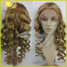 2014 promotional Wholesale best quality full lace wigs virgin human high density