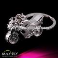 Motocicleta mini llavero de metal/de simulación de hombre de la motocicleta llavero