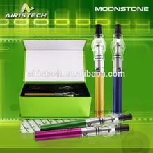 wholesale wax vaporizer pen OEM crazy !! 2015 Airistech vaporizer pen Moonstone Ego Vaporizer Pen with glass dome wax atomizer