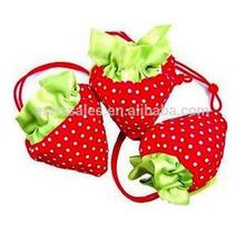 190T Strawberry triangel shopping bag Strawberry foldable small shopping bag