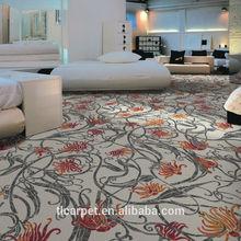Pattern Floral Wall to Wall Carpet, Nylon Printed Carpet 001