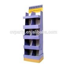 custom paper display shelf with hooks cosmetic display advertising standee pop up