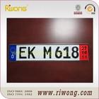 Aluminum Car Number Plate