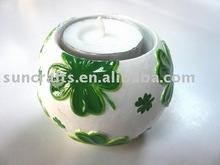St. Patrick's Day candle holder