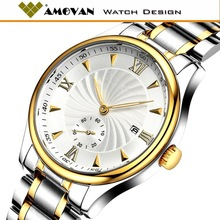 High Quanlity All Stainless Steel Wrist Watches For Men, no brand watch water resistant, cheap price from 3 usd