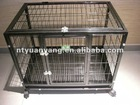 luxurious steel metal dog cage pet house kennel indoor with wheel