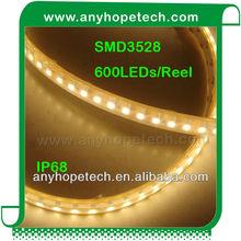 Hot sale ! SMD3528 24VDC 120leds/Meter Pitch 8.3mm aluminium profile led strip