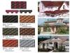 produce Jianda brand laminated hexagonal demensional Colored asphalt shingle