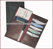 Leather card holder custom logo promotion travel wallet