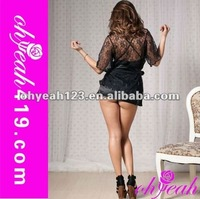 Hot sale sexy black see through sleepwear babydoll shop,lingerie crotchless sexy,babydoll tops