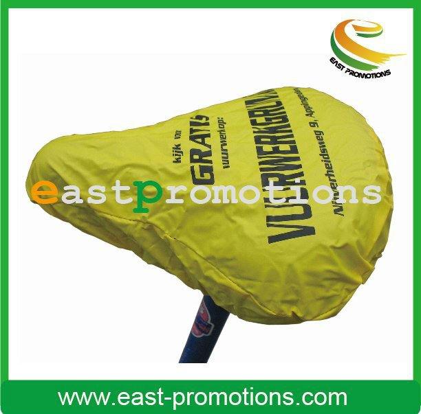 2014 high quality practical Custom logo 9.5*10.5 inch waterproof pvc bike saddle cover