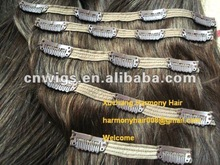 Quality clip hair extensions double weft/best clip in hair extensions for fine hair/32 inch hair extensions clip in