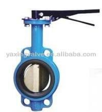 D371X Worm on the wafer type butterfly valve