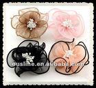 organza flower hair,artificial fabric flower,flower brooch for lady