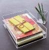 clear acrylic desktop tray or acrylic desktop organizer