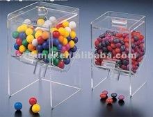 Transparente doces acrílico distribuidor ou acrílico caixa distribuidora de doces