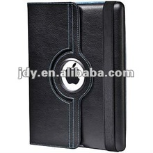 Promotion Price for ipad case with 360 rotating case leather magnetic smart cover by wholesale price