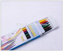 2014 New Arrivel Plastic Wax Crayon 6 Colors