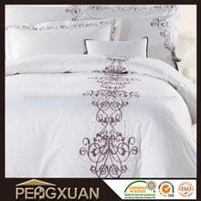 Embroidery fashion design contemporary duvet cover set exporter