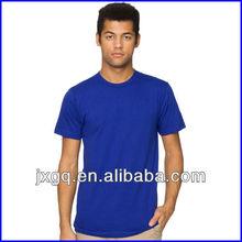 Wholesale plain round neck t-shirt fashion design men's high quality plain t-shirt
