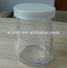 100ml milk glass bottle with plastic lid