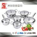 12 piezas de silicona perilla de acero inoxidable utensilios de cocina