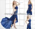 2013 vestido sexy um- ombro cristais frisado trem sweep vestido de noite xyy06-010
