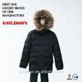 2015 crianças venda quente meados- comprimento jaqueta de inverno com pele de guaxinim e doces bolsos