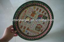 round tin tray/tin sign plate/tin sign wholesale