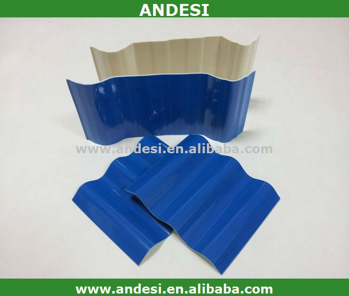 building material corrugated PVC roofing tiles