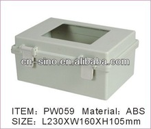 Plastic meter box with Clear Lid size:9``x7``x4``inch