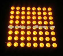 High Brightness! amber 5mm led dot matrix 8x8 display