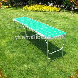 Portable outdoor aluminum folding table