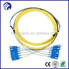 SC/UPC 6 Core PVC Fiber Optic Patch Cord Cable/jumper