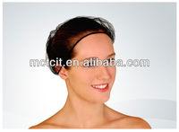 Fashion white/black/brown color nylon hair net/hairnet bouffant/hainet mob cap