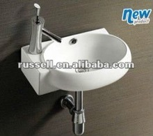 Ceramic bathroom sink small wall hang basin 1006R