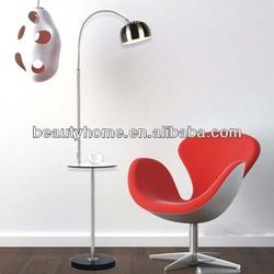 Fish lamp family Stand light for living room/ marble base arc floor lamp/stainless steel floor light