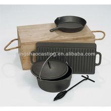 cast iron cookware camping set