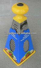 Los hogares multi- propósito de aceroinoxidable 4 lados rallador