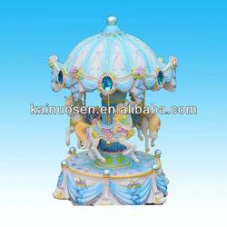 """10""""hotsale fashion polyresin carousel music box"""