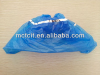 newest product 2013!Disposable foot/shoe cover/CPE shoe cover with detective stripe
